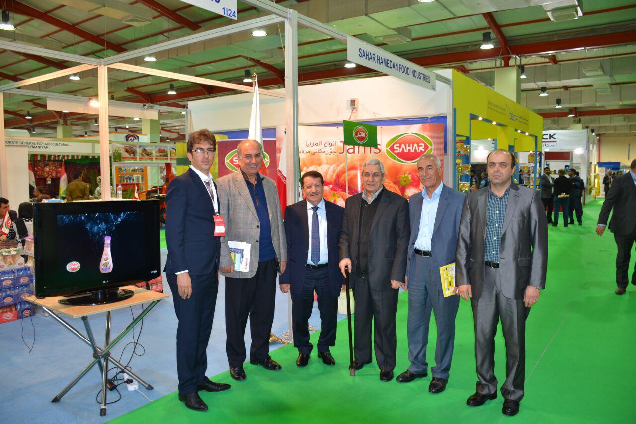خضور ریاست نمایشگاه اربیل در غرفه سحر