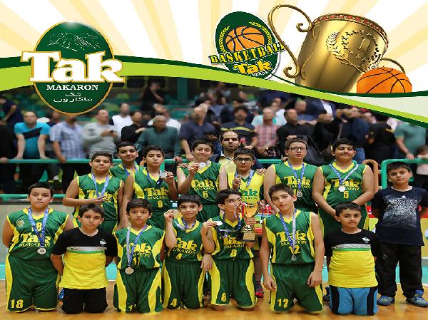 نایب قهرمانی تیم مینی بسکتبال تک ماکارون در معتبرترین لیگ بسکتبال سنین پایه ایران