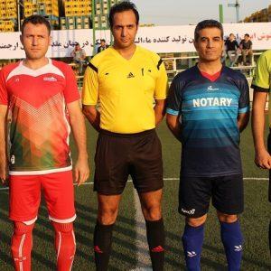 گزارش تصویری پنجمین دوره مسابقات فوتبال صنعت غذا / رویارویی دو تیم مهرام و کانون سردفتران و دفتریاران