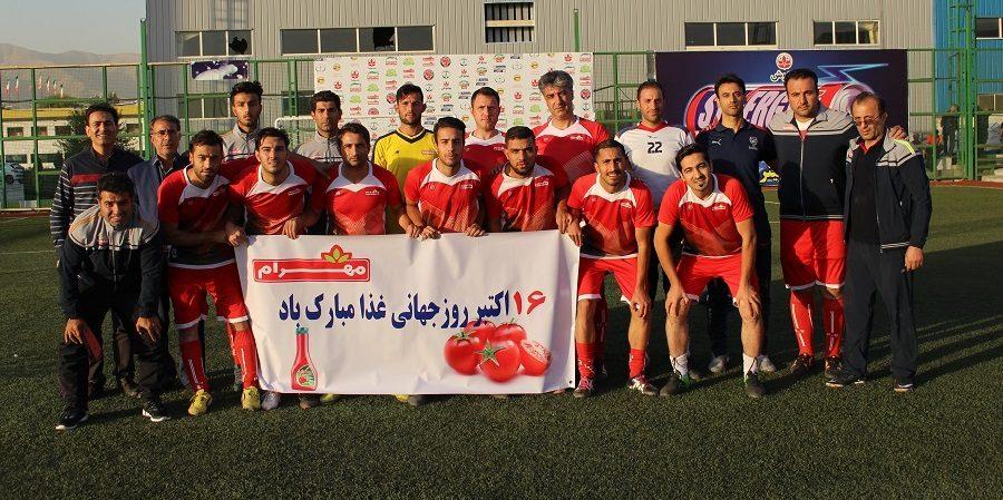 مهرام و آمارانت فینالیست های پنجمین دوره مسابقات فوتبال صنعت غذا شدند
