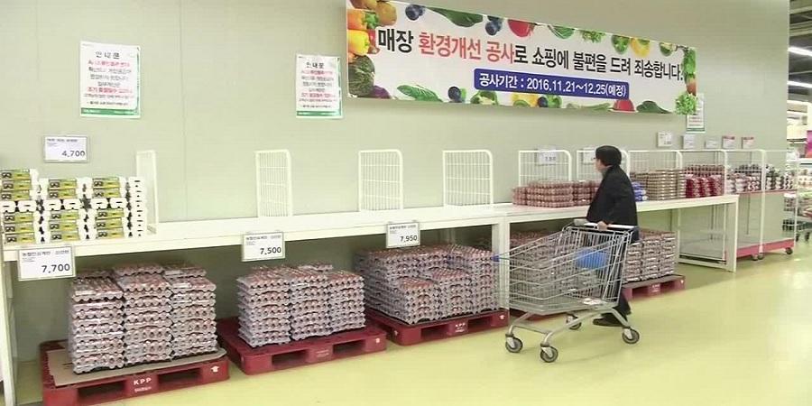 افزایش ۲۵ درصدی قیمت تخم مرغ در کره جنوبی