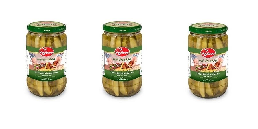 کنسرو خیار شور برش خورده محصول جدیدی از شرکت فراورده های غذایی سمیه