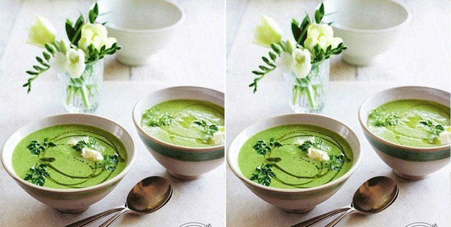 آشنایی با روش تهیه سوپ نخود فرنگی و جعفری با خامه ترش؛ برای افطاری
