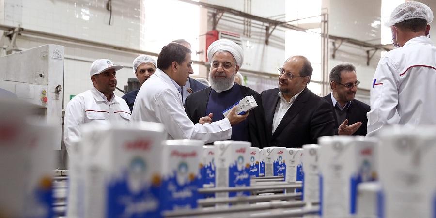 بازدید رئیس جمهوری از شرکت صنایع شیر ایران(پگاه) در نخستین روز نوروز ۹۸+ تصاویر