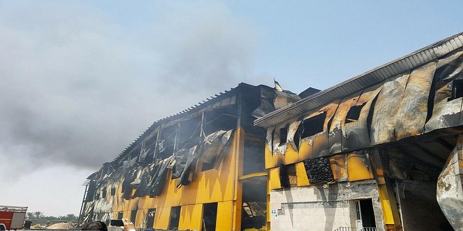 خسارت ۸۰ میلیون دلاری و تخریب ۹۰ درصد از خط لبنیات کاله در کربلا بر اثر آتش سوزی