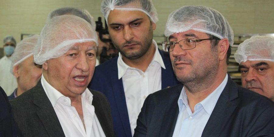 بازدید وزیر صنعت، معدن و تجارت از کارخانه سولیکو تهران
