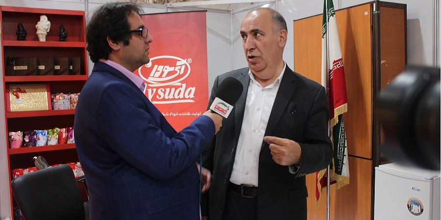 گفتگوی اگروفودتی وی با حیدرتوکلی شانجانی رئیس گروه صنایع غذایی آی سودا در حاشیه دومین نمایشگاه اتحادیه قنادان