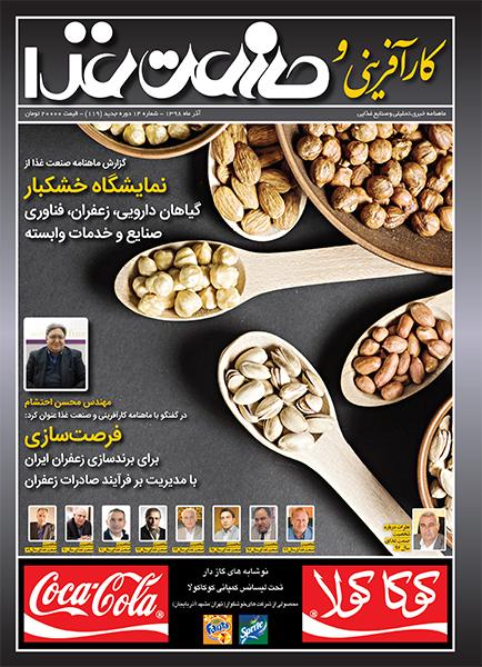 جلد مجله کارآفرینی و صنعت غذا 119
