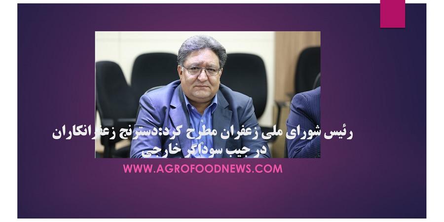 رئیس شورای ملی زعفران مطرح کرد:دسترنج زعفرانکاران در جیب سوداگر خارجی