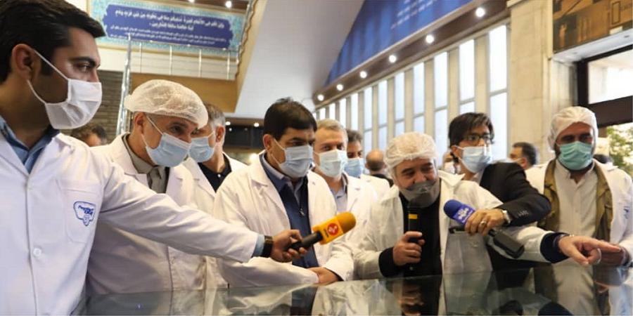 بازدید معاون اول رییس جمهور از شرکت شیر پاستوریزه پگاه تهران